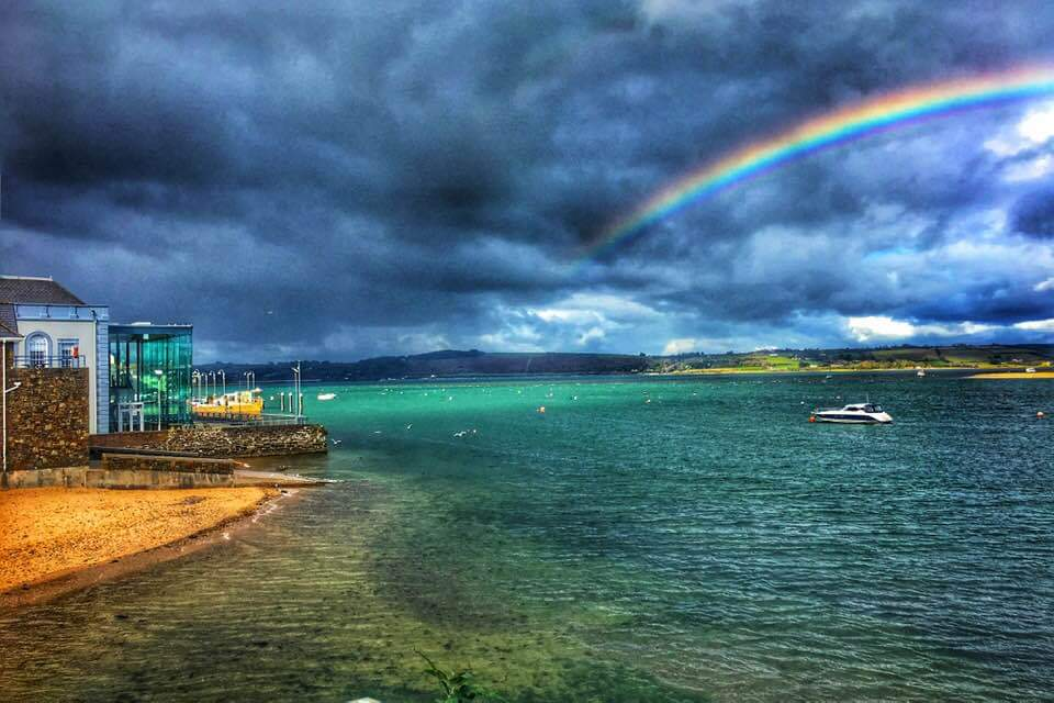 A unique and striking image of Youghal including rainbows and seaside locally. Youghal Cancer Support